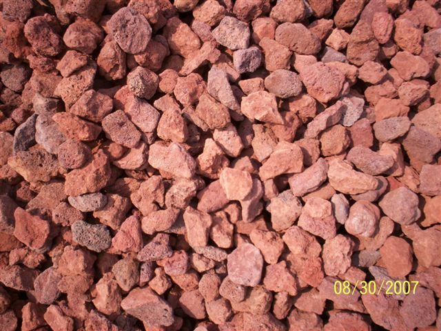 Yard supply garners ferry landscape supply for Red decorative rocks for landscaping